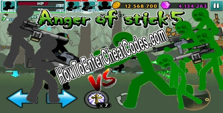 Anger of Stick 5 Hacked Coins, God Mode and Gems