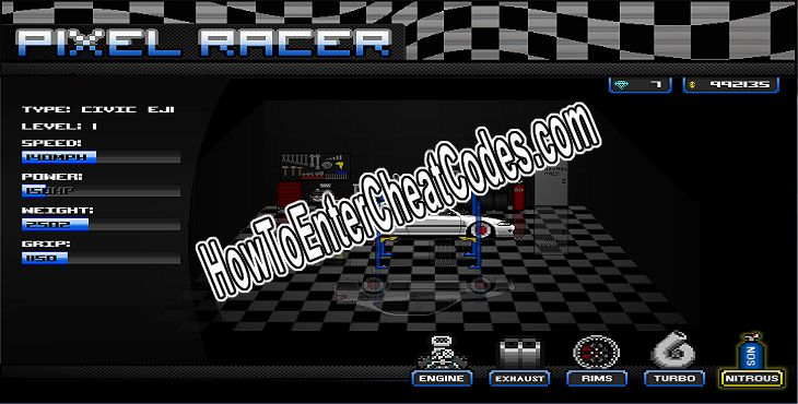 pixel car racer hacked crates and diamonds