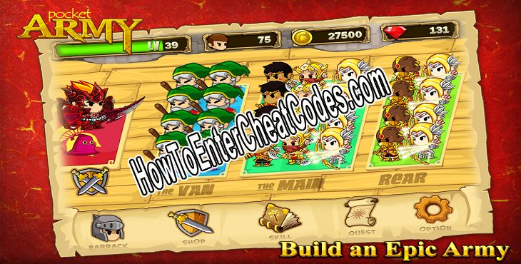 Pocket Army Hacked Money and Gems