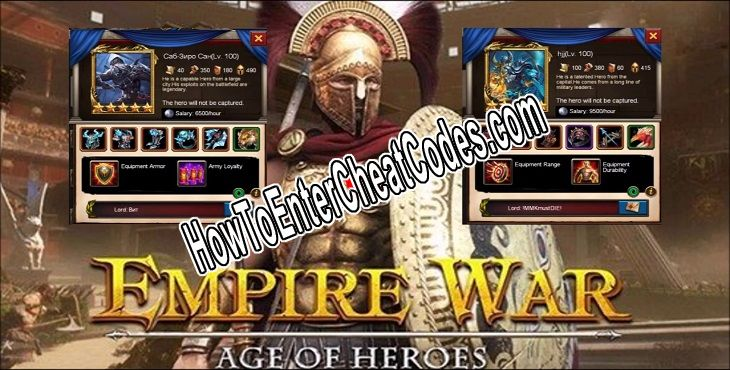 Empire War: Age of Heroes Hacked Gold and Silver